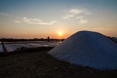 Beatifoul solnedgång i Sicilien Arkivbilder