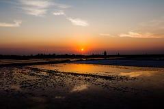Beatifoul solnedgång i Sicilien Royaltyfria Bilder