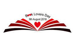 Book Lovers Day 9th August. Beatifu vector about Book Lovers Day royalty free illustration