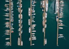View to bay and sea from drone royalty free stock photos