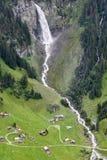 Alpine landscape near the Klausen pass in the Swiss Alps Stock Photo