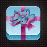 Beatiful app icon with present. Illustration vector illustration