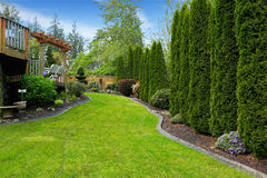 Beatiful backyard landscape Royalty Free Stock Images