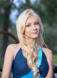 Beatiful blonde girl Stock Photos