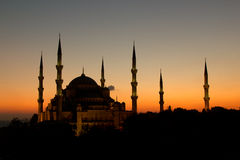 The Beatiful Blue Mosque Stock Images