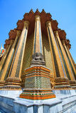 Beatiful Buddhist statue in Thai temple Royalty Free Stock Photography