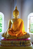 Beatiful Buddhist statue in Thai temple Stock Photo