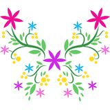 Hand drawn beatiful butterfly. Beatiful butterfly vector drawn with flowers and branches vector illustration