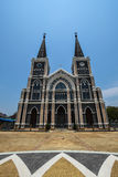 Beatiful Catholic Church in Chanthaburi Thailand. This photo on Songkran's day 14 Apr 2015 stock images