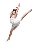 Dancing girl Stock Image