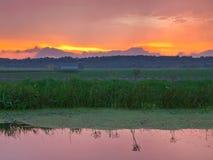 Beatiful Cloudy Sunset Royalty Free Stock Photo