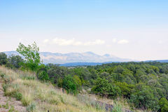 Beatiful daylight view to mountains and green forest. In Ruidoso, New Mexico, United states of America Royalty Free Stock Photography