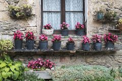 Beget village. Beatiful facade in beget village, catalonia Stock Image