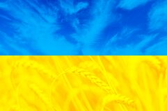 Beatiful flag of Ukraine