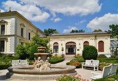 Beatiful fountain in garden in Museum . Villa Edward Herbst in Lodz, Poland. Beatiful fountain in garden in Museum - Villa Edward Herbst in Lodz in a beautiful royalty free stock images