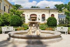 Beatiful fountain in garden in Museum . Villa Edward Herbst in Lodz, Poland. Beatiful fountain in garden in Museum - Villa Edward Herbst in Lodz in a beautiful royalty free stock photography