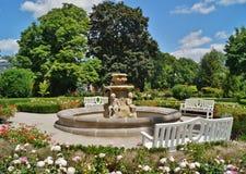 Beatiful fountain in garden in Museum . Villa Edward Herbst in Lodz, Poland. Beatiful fountain in garden in Museum - Villa Edward Herbst in Lodz in a beautiful royalty free stock photos