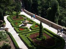 Beatiful garden. Castle in Ksi stock photography