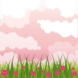 Beatiful gardenwith flowers scenery. Beatiful gardenwith flowers sunny day scenery vector illustration graphic design royalty free illustration