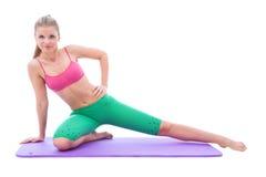Beatiful girl doing fitness Stock Image