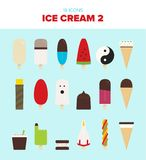 18 beatiful ice cream illustrations vector illustration