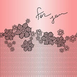 Lace floral background Royalty Free Stock Image