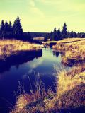 Beatiful landscape in the Czech Republic. There is a panoramatic view in Jizera mountains in the Czech Republic. The photo was taken in the summer evening royalty free stock images