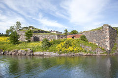 Beatiful landscape in Suomenlinna island, Helsinki Royalty Free Stock Images