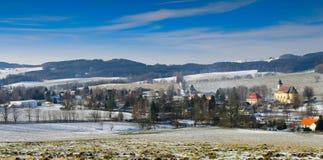 Beatiful Lobendava village, Czech republic royalty free stock photo