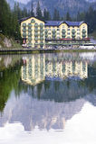 The beatiful Misurina Lake Stock Image