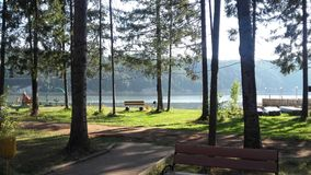 Beatiful morning. Recreation camp, rest royalty free stock photography