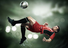 A beatiful and nice soccer player Royalty Free Stock Image