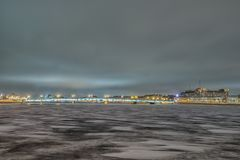Beatiful view Neva river in Saint Petersburg, Russia Stock Image