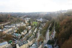 Beatiful panoramic view from the City Skyliner on Luxembourg Stock Photos