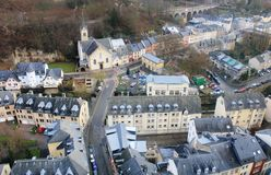 Beatiful panoramic view from the City Skyliner on Luxembourg Stock Image