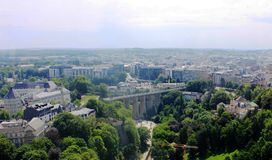 Beatiful panoramic view from the City Skyliner on Luxembourg Royalty Free Stock Photography