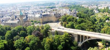 Beatiful panoramic view from the City Skyliner on Luxembourg Stock Photo