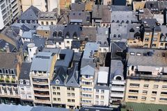 Beatiful panoramic view from the City Skyliner on Luxembourg Royalty Free Stock Images