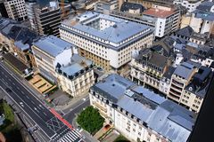 Beatiful panoramic view from the City Skyliner on Luxembourg Royalty Free Stock Photo