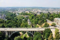 Beatiful panoramic view from the City Skyliner on Luxembourg Stock Images