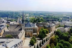 Beatiful panoramic view from the City Skyliner on Luxembourg Royalty Free Stock Photos