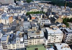 Beatiful panoramic view from the City Skyliner on Luxembourg Royalty Free Stock Image