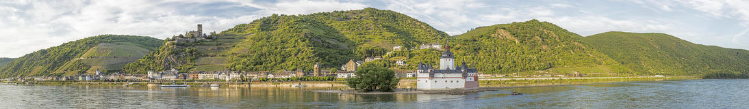Beatiful panoramic view to the Rhine valley. A unesco world heritage site stock photography