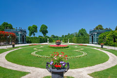 Beatiful park in Schonbrunn Stock Images