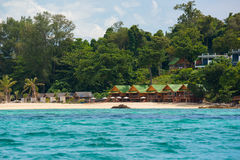 Beatiful resort locate on the cliff of Koh Lipe in Satun,Thailand Stock Photography
