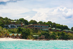 Beatiful resort locate on the cliff of Koh Lipe in Satun,Thailand Royalty Free Stock Images