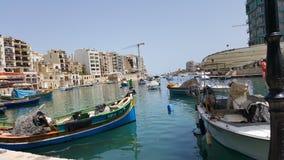 Beatiful sea. Ships sea Mediterranean malta summer royalty free stock images
