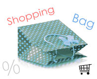 Beatiful shopping bag Stock Images