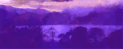 Beatiful Sky with Clouds Artistic Craft Painting