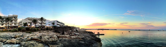 Beatiful Sunny Beach day in Formentera Spain. Royalty Free Stock Photo